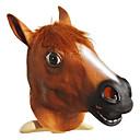 cabeza de caballo vívida látex natural marrón de halloween máscara