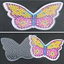 1pcs plantilla clara Perler Beads Pegboard patrón de mariposa de colores para Hama Beads 5mm cuentas de fusibles