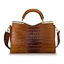 BlKl cocodrilo de la manera del bolso del patrón de patentes bolso de cuero (marrón)