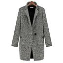 abrigo abrigo de algodón de lino, más chaqueta de terciopelo nuevo de las mujeres aywn