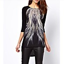 Yiya Women's Loose Fit Printing Blouse