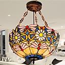 18 pulgadas de la flor del crisantemo luz de techo de diseño tiffany