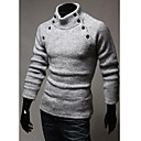 Hisen Mens Casual All Match Knitwear Shirt