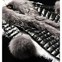invierno cálido abrigo de piel de imitación l085 gy de las mujeres