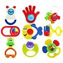 9pcs coloridos de los niños multi-forma de campana juguetes bebé anillo