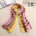 gasa modelo de lana colorida bufanda de las mujeres Ludy