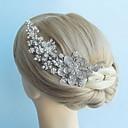 aleación de flores de diamantes de imitación de la vendimia tocados de boda nupcial peine del pelo de las mujeres