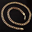 Image of plaqué cubain trapu 18k véritable chaîne d'or des femmes de U7 cool Hommes collier 7mm haute qualité 55cm