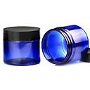 50g 2pcs azul oscuro transparente botella de crema de viajes-portable redonda