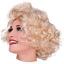marilyn monroe corto y rizado de oro de halloween fiesta de la peluca los 28cm de las mujeres