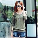 Frauen Han-Ausgabe Kleidung neue Off-die-Schulter-Warm-Bohren und T-Shirts