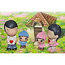 4pcs padres e hijos cálido y familiar para los juguetes de resina decoración habitación
