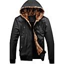 causal coreano abrigo con capucha de lana de los hombres senleisi