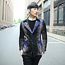 Mens Printed Lapel Jackets