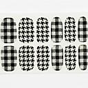 12pcs cubierta de tamaño completo falsa uñas pegatinas Adhesivos consejos envolturas francés elegancia inglaterra para las decoraciones del arte del