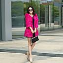 abrigo de piel elegante de la moda de invierno de las mujeres Baoli 9055