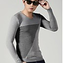 algodón marea conjuntos de empalme con cuello en V de ocio chaquetas de punto suéter delgado de los hombres