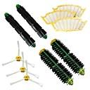 2 cepillos de cerdasamp;2 cepillos batidor flexiblesamp;3 cepillos laterales 3 armado-amp;3 filtros de paquete de kit para iRobot Roomba serie