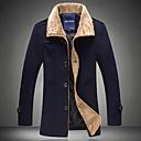 abrigo de lana de cuello de piel de la manera de los hombres Dibai