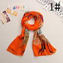 bufanda de seda de imitación de la moda occidental de las mujeres Ludy