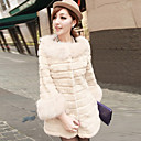 Yifeite Womens Fashion Imitation Fur Coat