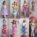 8 Piezas Avant Garde princesa Style Barbbie Doll Noble vestido de noche