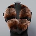 abrigo de la bufanda de cuello de piel de zorro cuello de café de moda de la mujer real, genuina más cálido