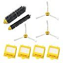 filtros HEPAamp;cepillo de cerdasamp;cepillo batidor flexible,amp;Kit de paquete de cepillo lateral 3-armado para iRobot Roomba serie 700 760