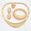 dubai joyas de oro chapado en oro de joyería fijó hermoso juego de collar para la madre de la novia