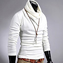 uf-men-solid-color-slim-haif-collor-sweater