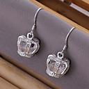 Vilin Womens Crown Earrings