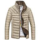 algodón coreano color sólido del collar del soporte delgado abrigo de lana de los hombres senleisi