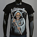 AFEC Mens Short Sleeve 3D Death Printed  T Shirt