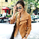 Kaca Womens Solid Color PU Jacket