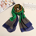 moda occidental carta Inglés patrón bufanda de las mujeres Ludy