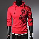 ZJ.SM Mens bodycon long sleeve hoodie pullover