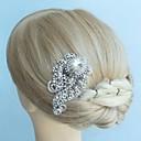 aleación de la vendimia de cristal de rhinestone nupcial del peine del pelo de las mujeres tocados de novia