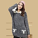 TS Simplicity Casual Contrast Color Women Pullovers Sweater