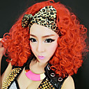 cantante del club salvaje naranja fibra sintética roja del partido de halloween peluca 50cm de las mujeres