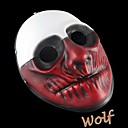 día de pago de 2 lobo máscara de resina para la fiesta de Halloween (1 pc)