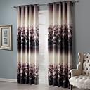 apagón artística floral racimos cortina (dos paneles)
