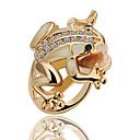 Jinfu anillo chapado en oro elegante