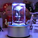 cristal caja de música regalo personalizado subió liwuyou ™