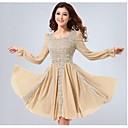 ajiduo vestido corsé de encaje puff princesa de manga larga primavera de la mariposa del otoño de las mujeres