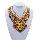 clásicos de la resina de los estados de las mujeres colorido exagerado collar elegante