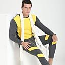 algodón de los hombres de manga larga ropa interior de abrigo térmica