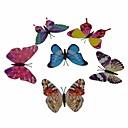 Brilla en la oscuridad pegatina mariposa decorativa magnética - multicolor (6 piezas)