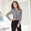 O Lady Womens Office Wear Office Lady Formal Basic Cotton Shirt
