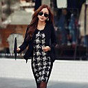 TS Womens Simplicity Fashion Round Collar Slim Mini Dress