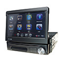 1 din panel desmontable reproductor multimedia radio del coche DVD de 7 pulgadas con gps bluetooth ipod atv